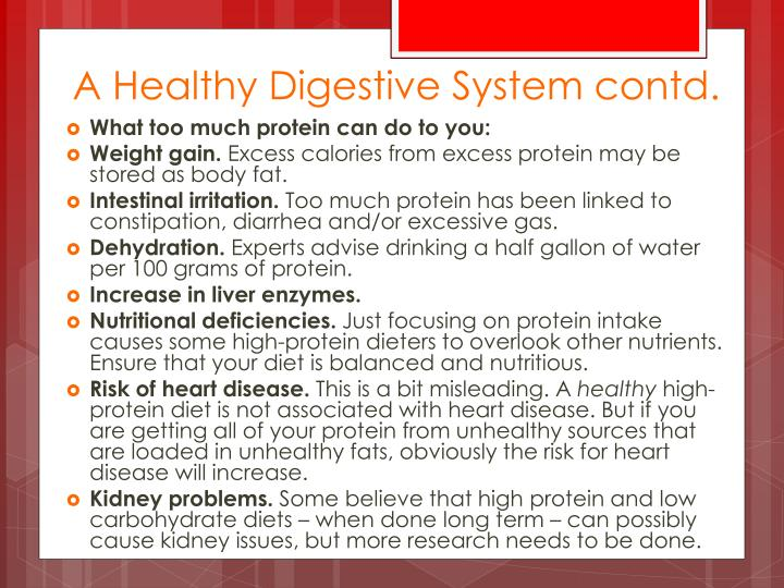 A Healthy Digestive System contd.