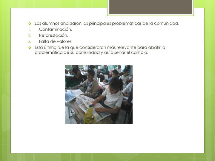 Los alumnos analizaron las principales problemáticas de la comunidad.