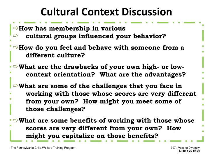 Cultural Context Discussion
