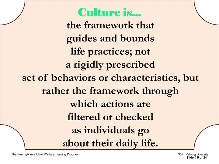Culture is...