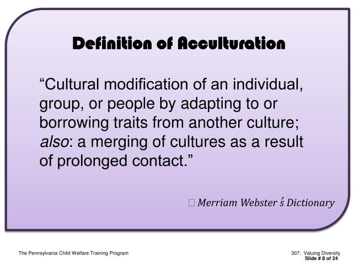 Definition of Acculturation