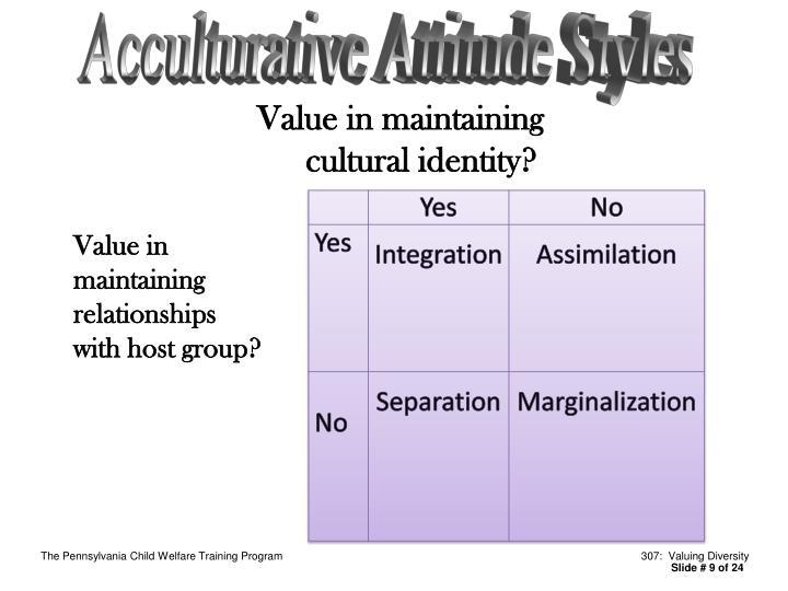 Acculturative Attitude Styles