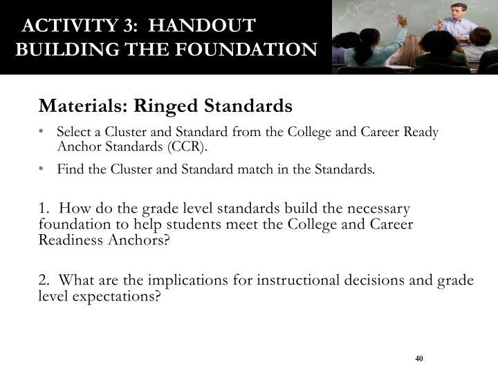 Activity 3:  Handout