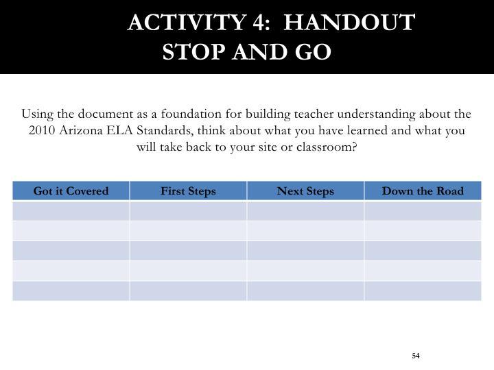 Activity 4:  Handout