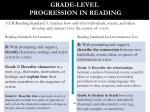 grade level progression in reading
