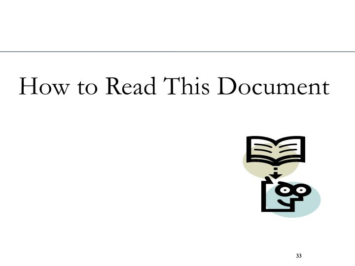 How to Read This Document