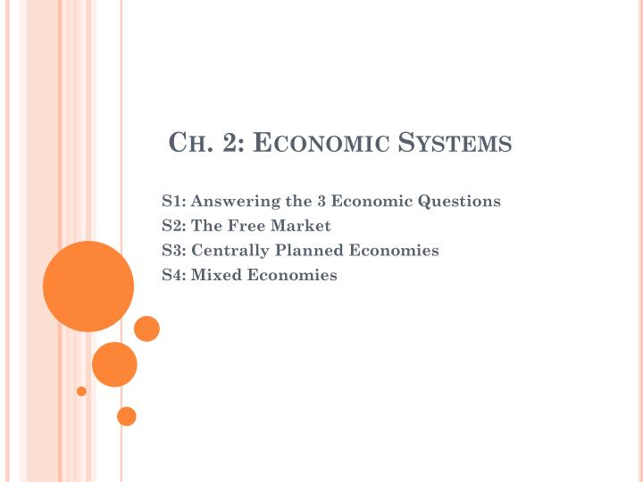 Ch 2 economic systems