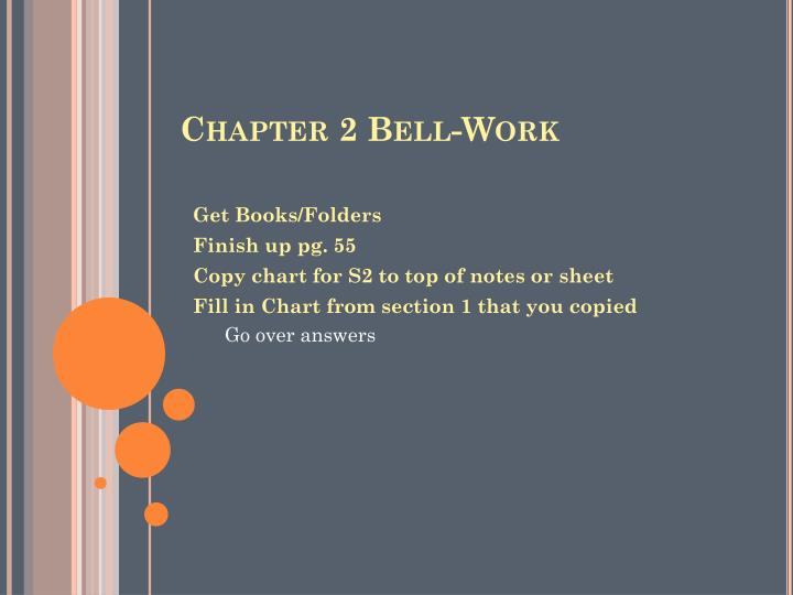 Chapter 2 Bell-Work