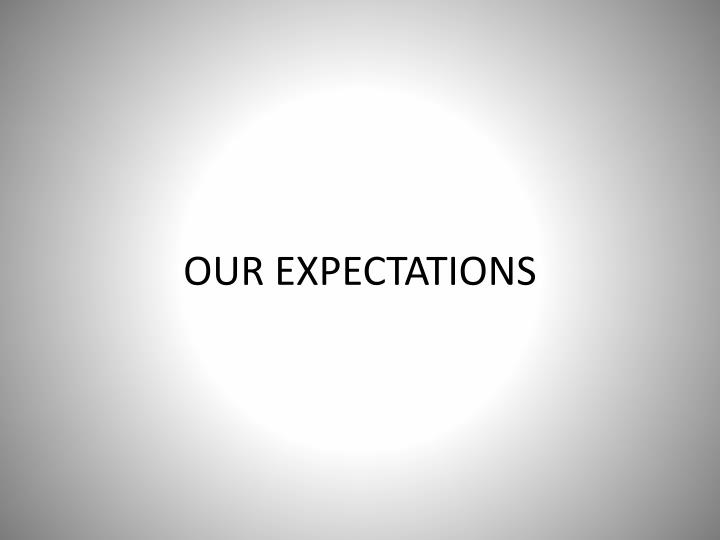 Our expectations