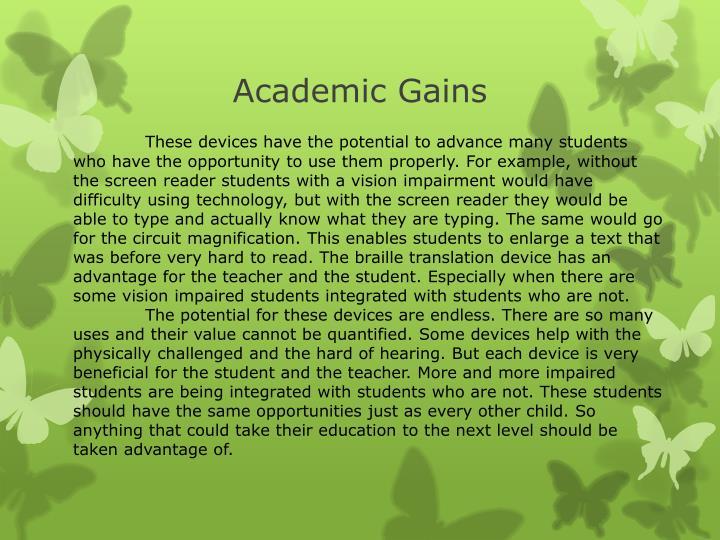Academic Gains