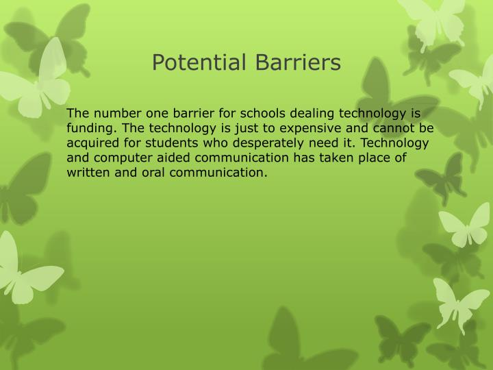 Potential Barriers
