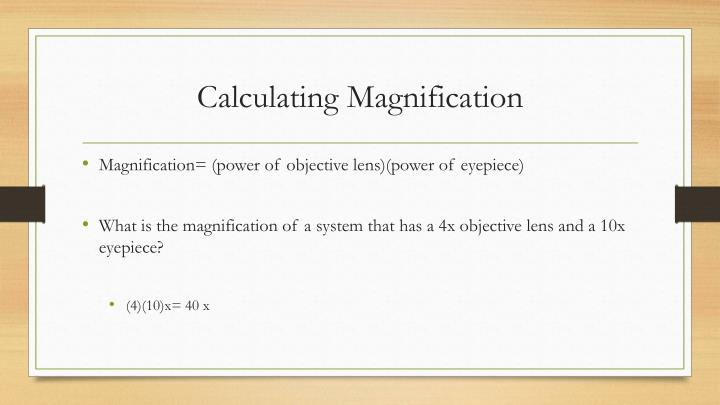 Calculating Magnification
