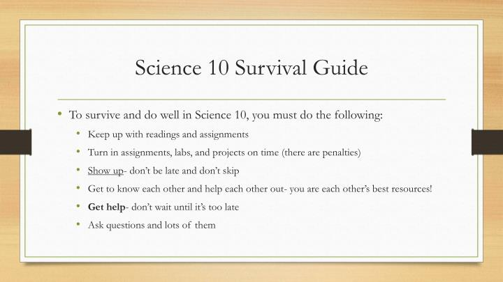 Science 10 Survival Guide