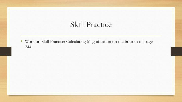 Skill Practice