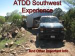atdd southwest experience