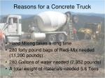 reasons for a concrete truck