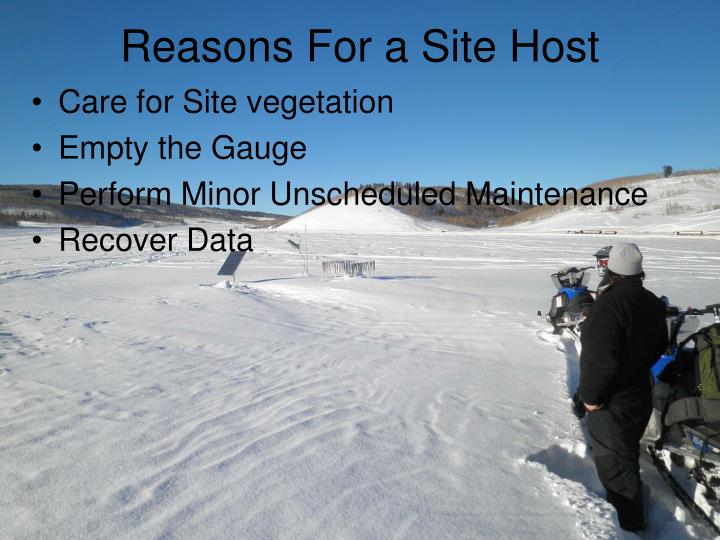 Reasons For a Site Host