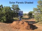 solar panels shaded