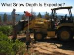 what snow depth is expected