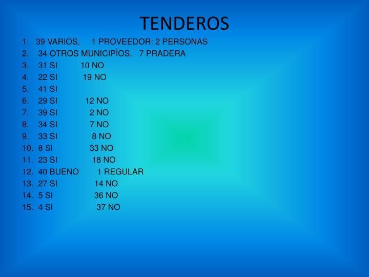 TENDEROS