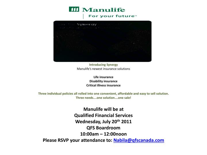 Manulife Disability Insurance Quote 44billionlater