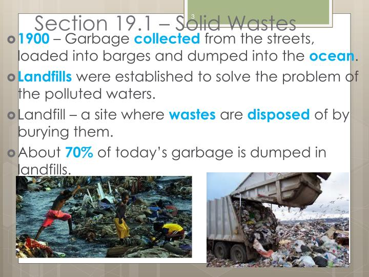 Section 19.1 – Solid Wastes