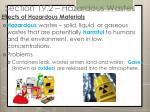 section 19 2 hazardous wastes