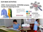 our main activities