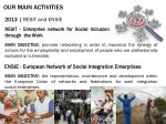 our main activities6