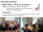 our main activities7