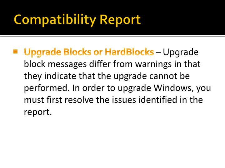 Compatibility Report