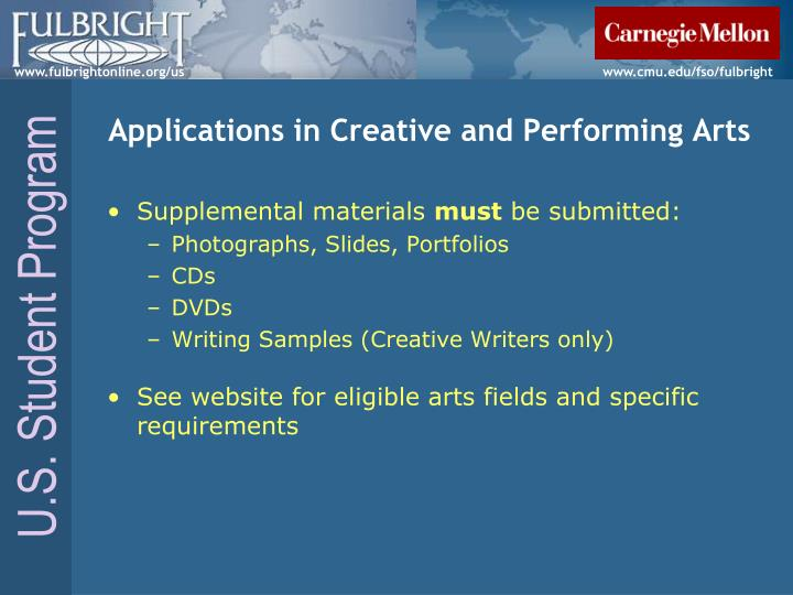 Applications in Creative and Performing Arts