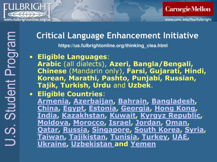 Critical Language Enhancement Initiative
