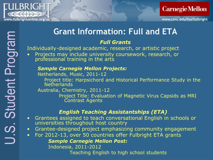 Grant Information: Full and ETA