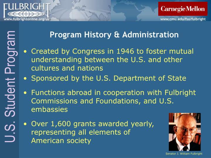 Program History & Administration