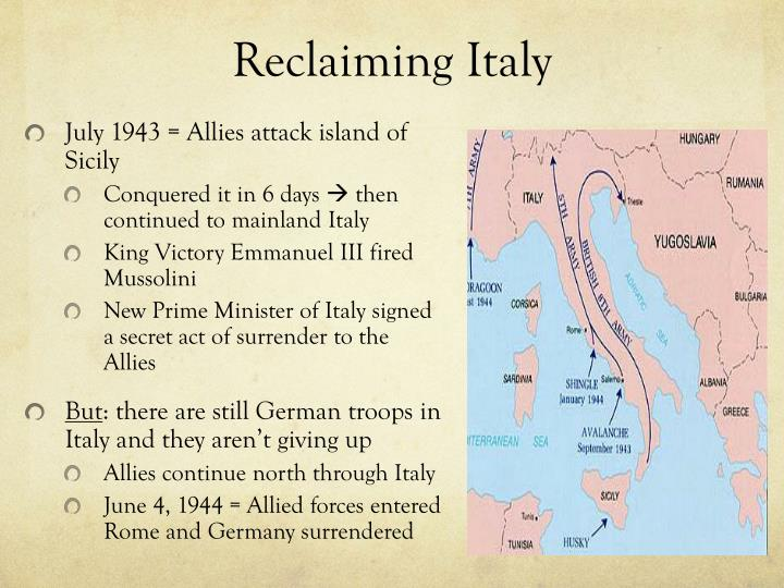 Reclaiming Italy