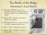 the battle of the bulge germany s last stand
