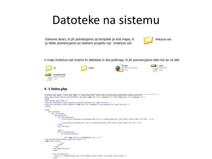 Datoteke na sistemu