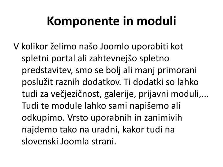 Komponente in moduli