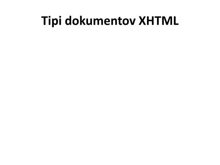 Tipi dokumentov XHTML