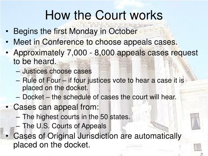 How the Court works