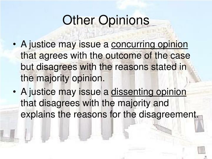 Other Opinions