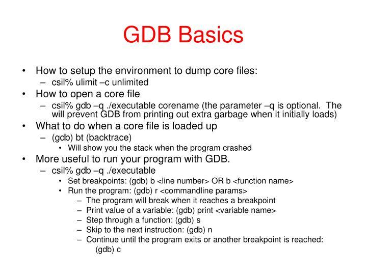 GDB Basics