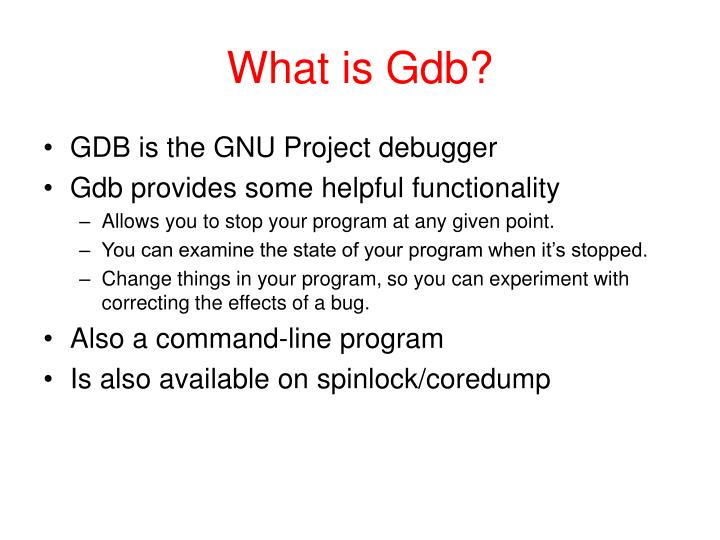 What is gdb