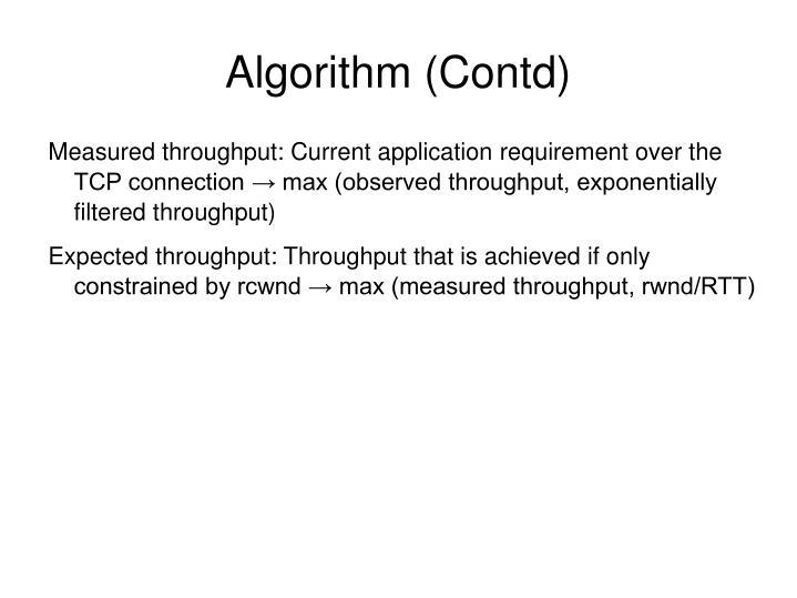 Algorithm (Contd)