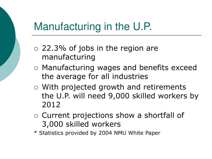 Manufacturing in the U.P.