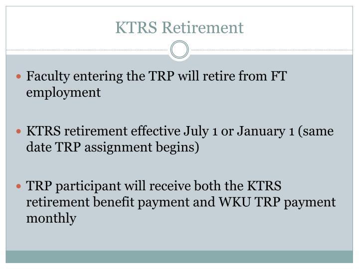 KTRS Retirement