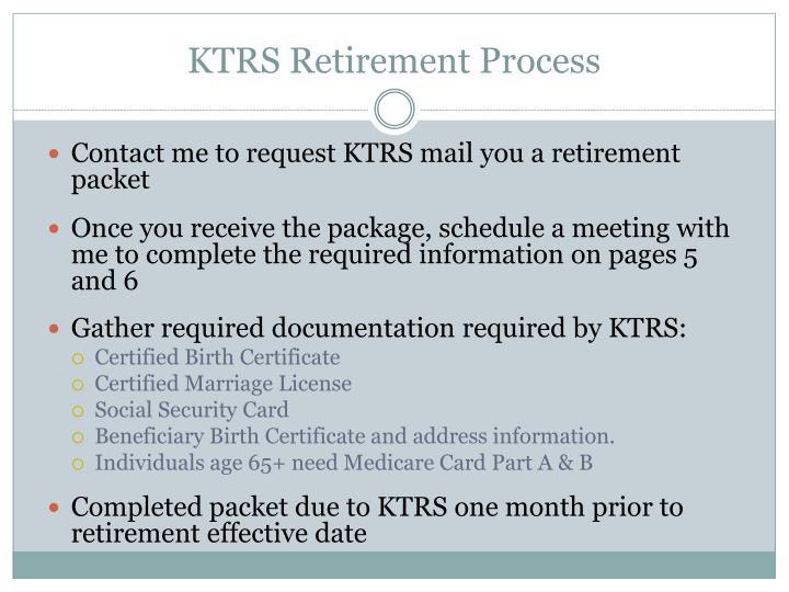 KTRS Retirement Process