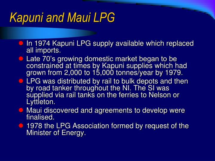 Kapuni and Maui LPG