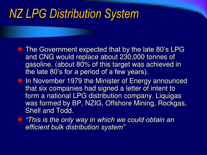 NZ LPG Distribution System